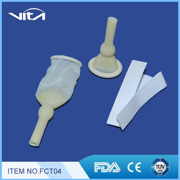 Male External Catheters with Adhesive Tape FCT04 Male External Catheters Urinary Catheterization