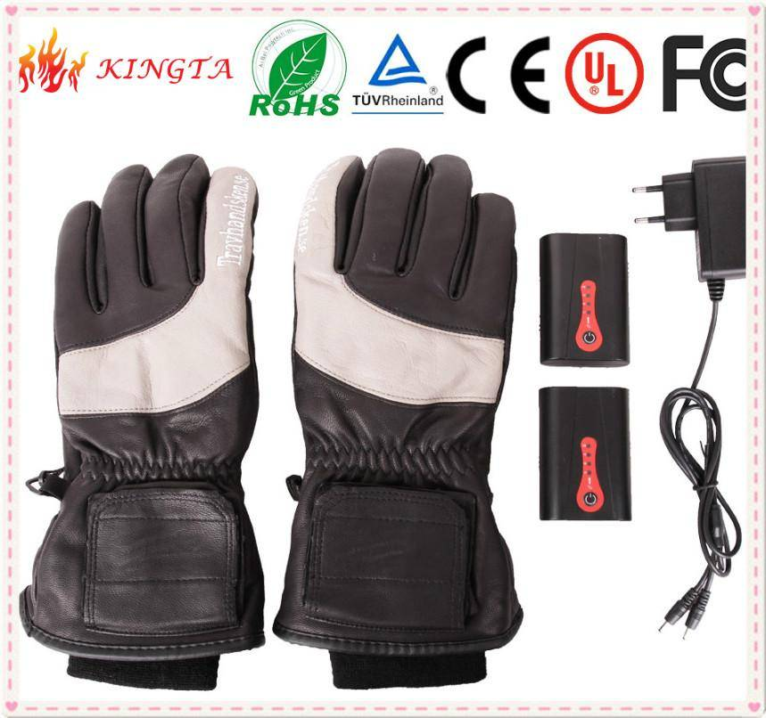 Winter Windproof Warm Waterproof Battery Heated Gloves,ski gloves