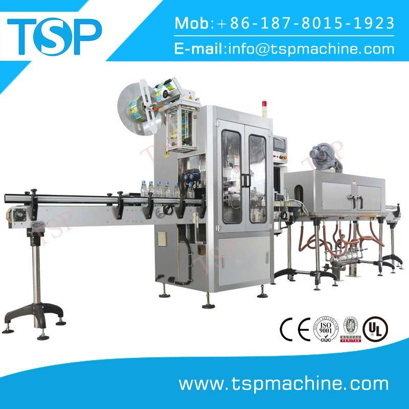 Full automatic sleeve type table top bottle labeling machine