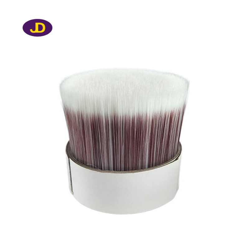 Porcelain white + red wine tapered brush filament