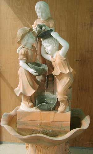 stone fountain