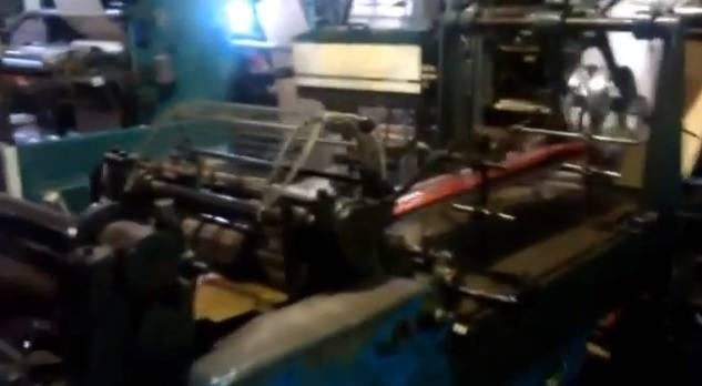 Flat paper bag making machine