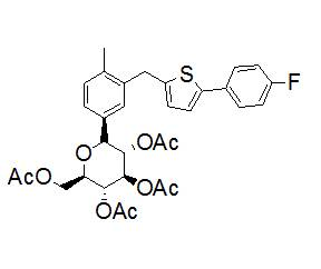 (2R,3R,4R,5S,6S)-2-(acetoxyMethyl)-6-(3-((5-(4-fluorophenyl)thiophen-2-yl)Methyl)-4-Methylphenyl)tet