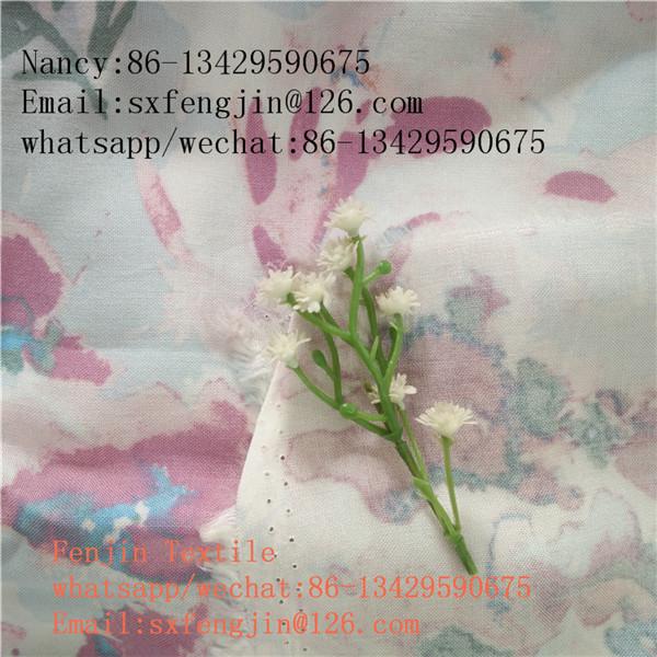 100% rayon viscose print fabric 45x45 100x80 for shirt/dress,china exporter