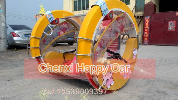 Hot Selling Amusement Equipment Amusement Kiddie Ride Happy 360 Degree Rotating Car for Theme Park