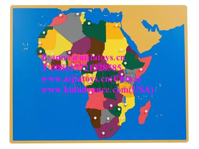 Montessori Puzzle Map of Africa,montessori materials toys