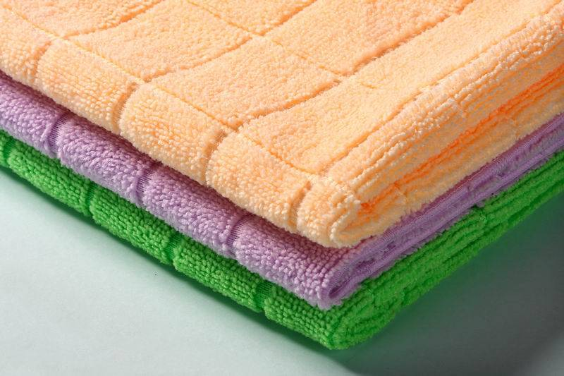 Warp knitting microfibre cloth