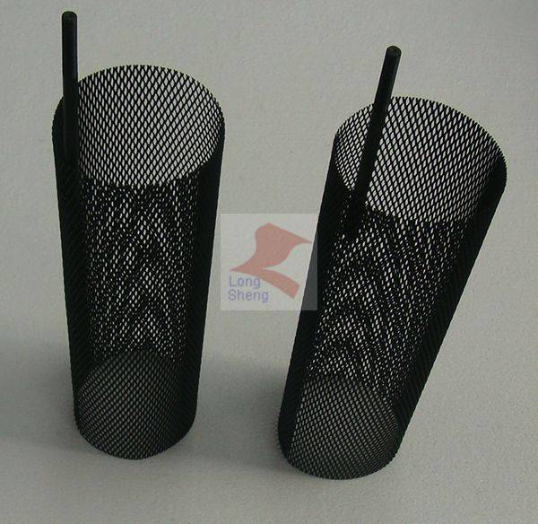 titanium electrode basket for water treatment