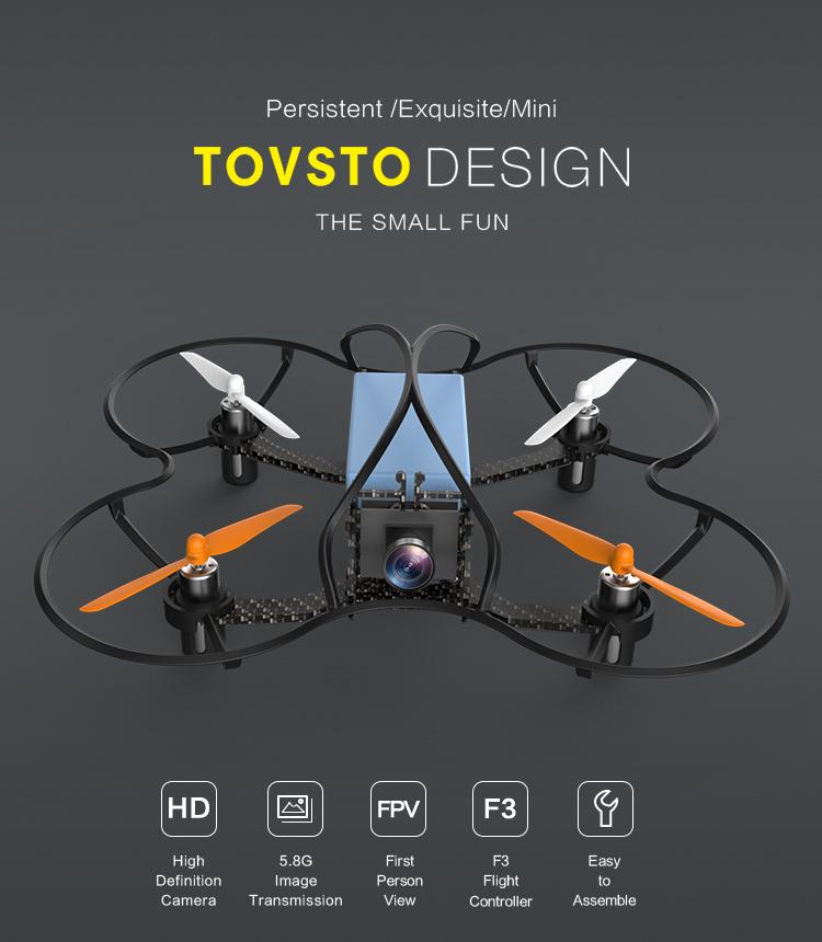 TOVSTO Mini Drone 6CH RC Drone Quadcopter with HD Camera for Kids