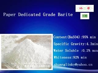 Paper Grade Barite Powder