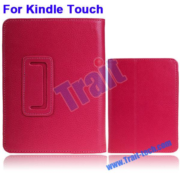 Lichee Pattern Leather Case for Amazon Kindle Touch 5