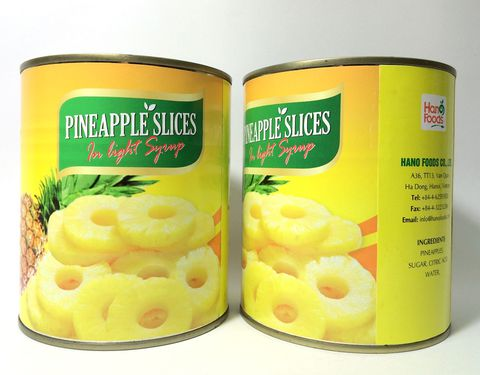 High quality 100% natural canned pineapple slices/ pieces