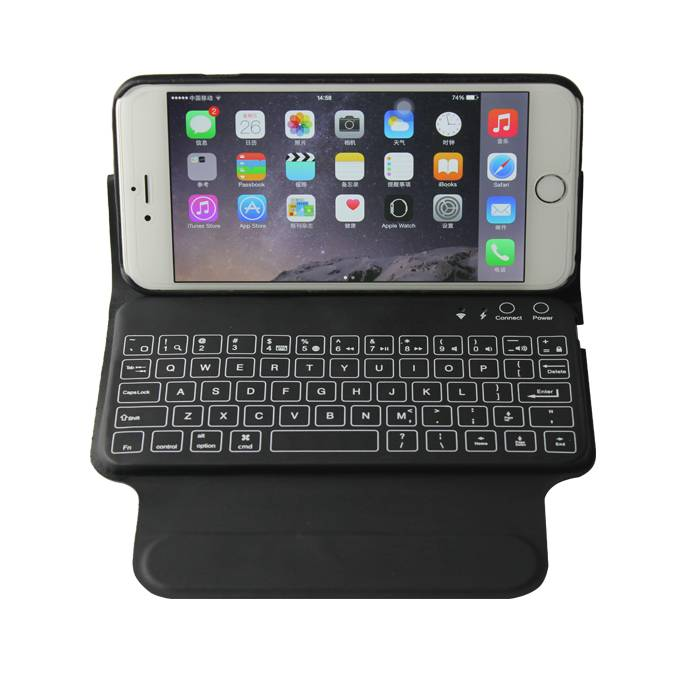 New iPhone 6 Plus Leather Bluetooth Wireless keyboard case