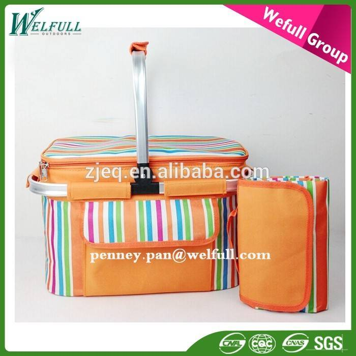 Hot Sale Oxford Fabric Empty Collapsible Folding Picnic Bag