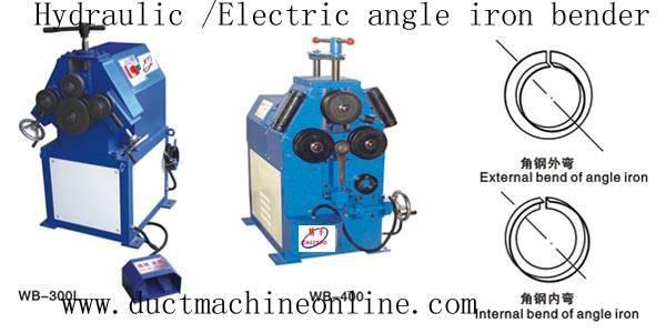 Hydraulic/Electric angle iron bender
