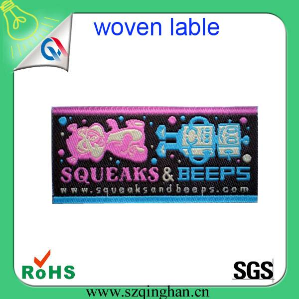 woven fabric label apparel end fold woven label for garment