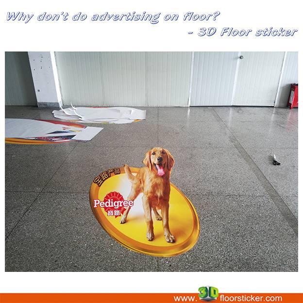 3D floor sticker