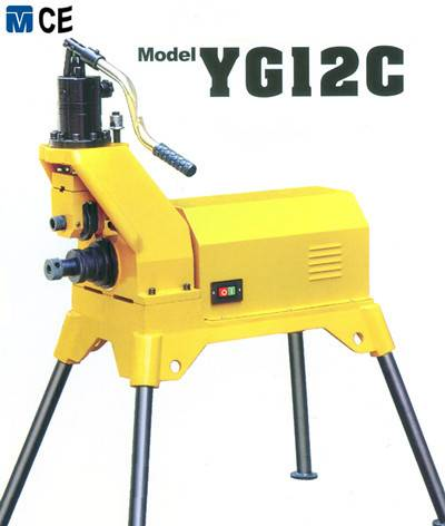 Hydraulic pipe roll grooving machine YG12C with 12'' grooving capacity