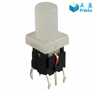 Plastic Micro Tact Switch With LED Illuminated light and cap