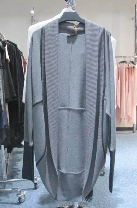 Customized Women's Coat with PU trim