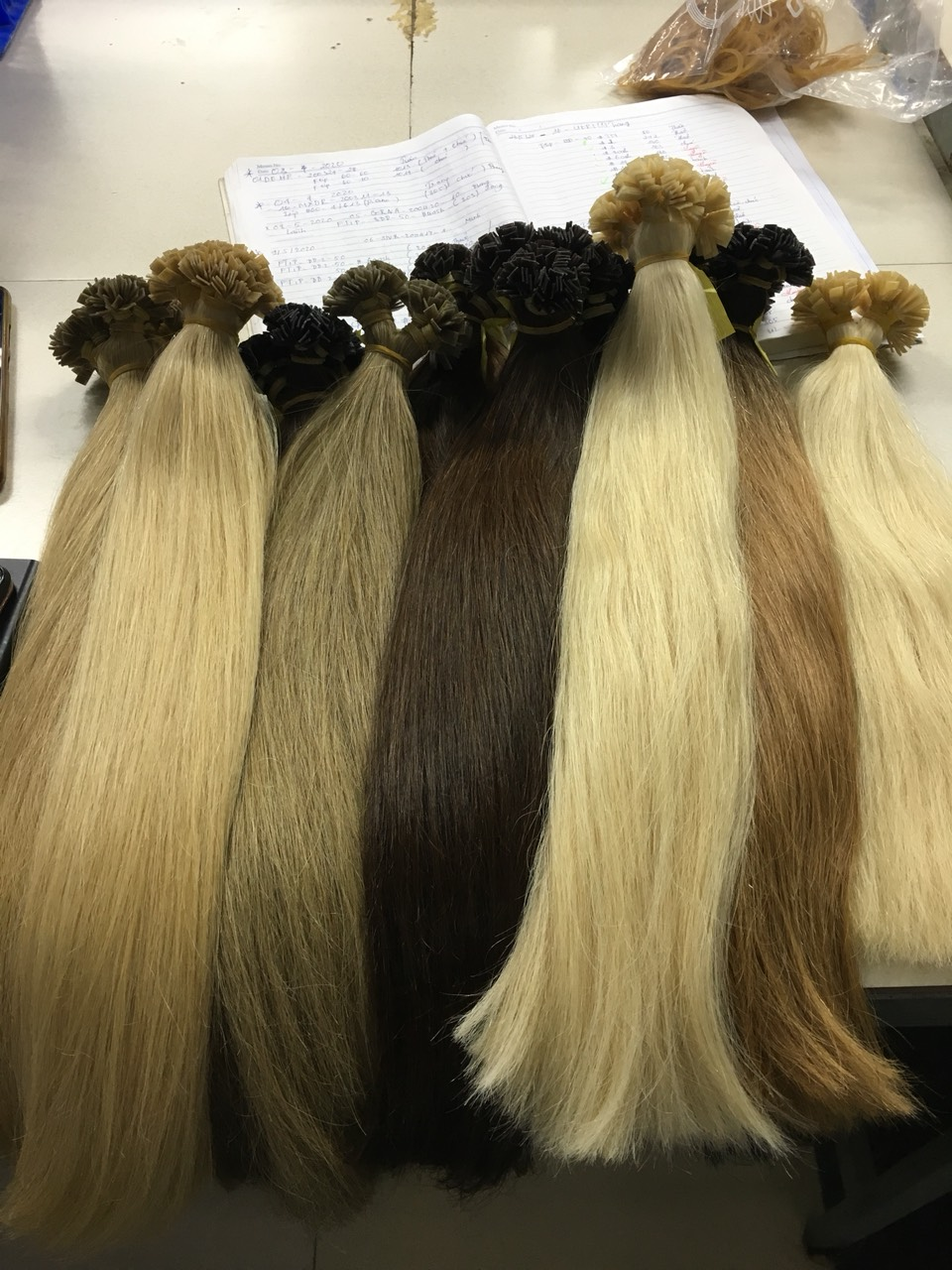 F-tip hair extension best sell dark colors bombre newest products