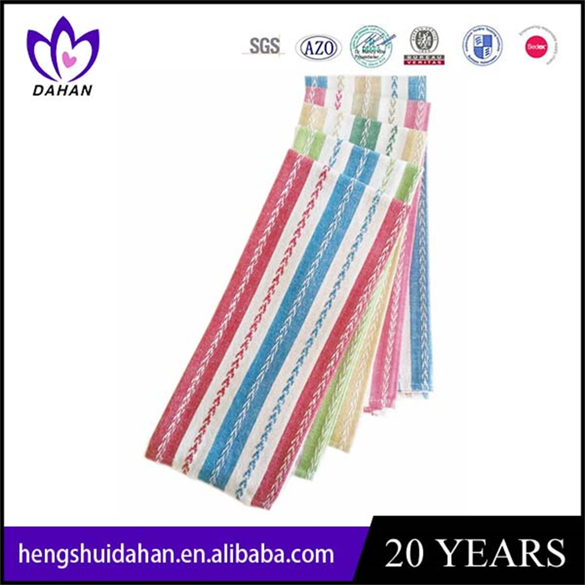 polyester strip jacquard tea towel