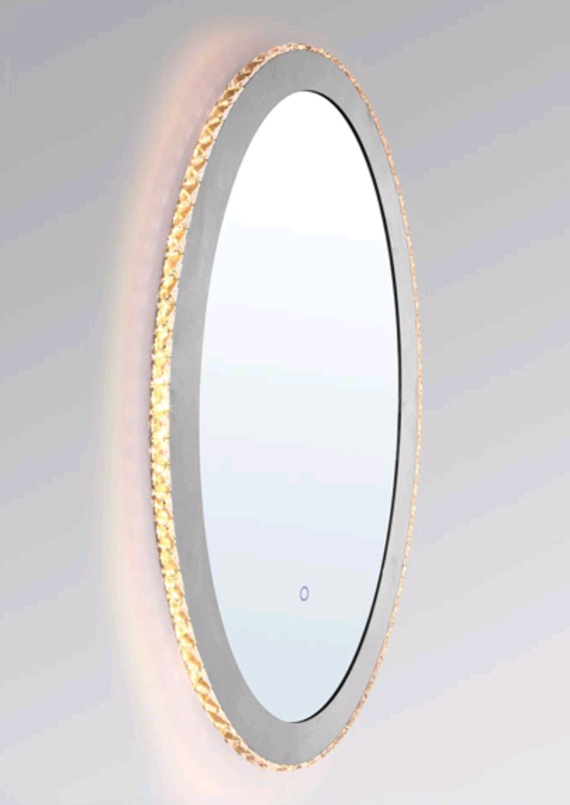 IP44 25W ROUND MIRROR SHAPE LED WALL LIGHT WITH TOUCH SWITCH-W62781TS