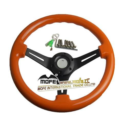 ITALY CLASSIC STEERING WHEEL WOOD WITH DULL POLISHED SPOKE