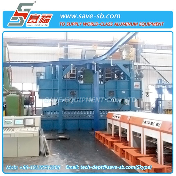 SAVE Energy Saving Aluminum Alloy Profile Cooling System on Extrusion Press Line
