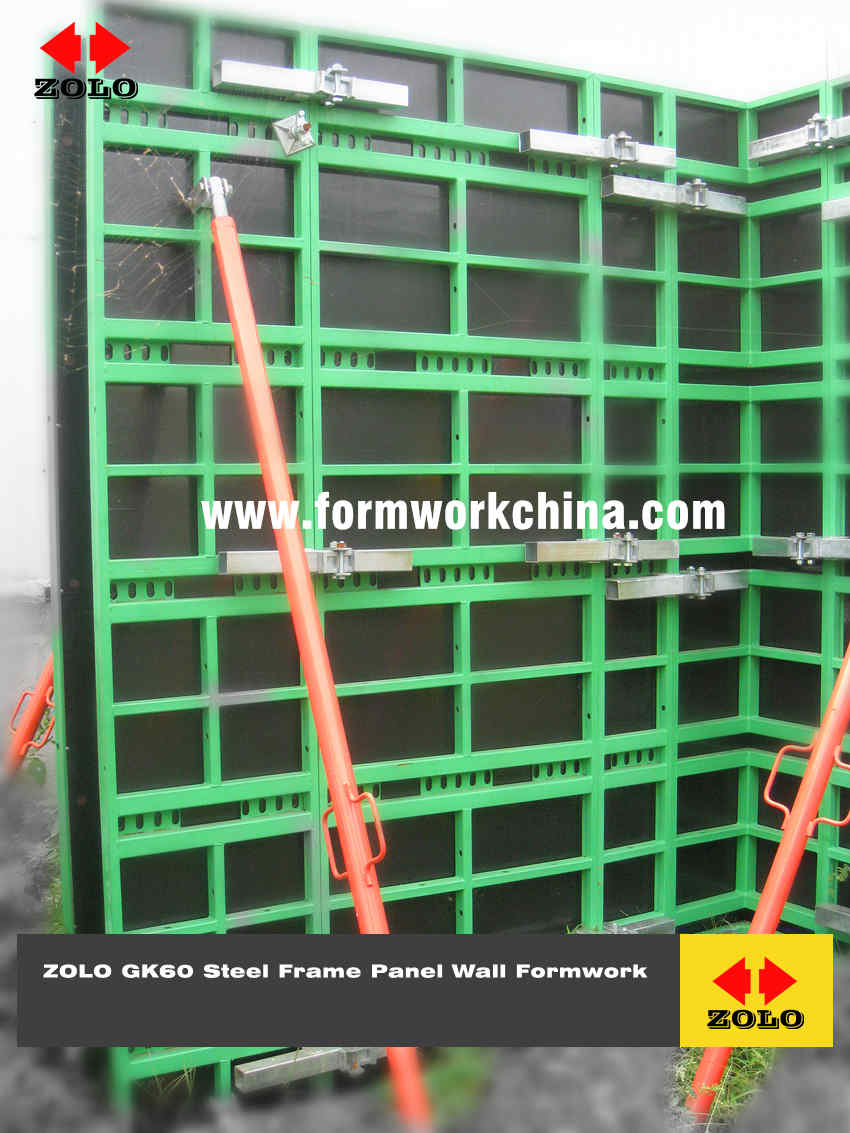 Zolo GK60 Steel Frame Panel Wall Formwork