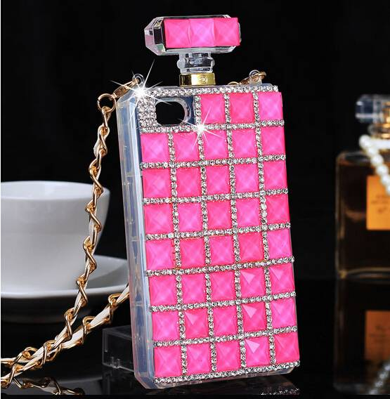Fashion Case for iPhone Samsung S6 Silicone TPU Bling Crystal Mobile Phone Cover Case