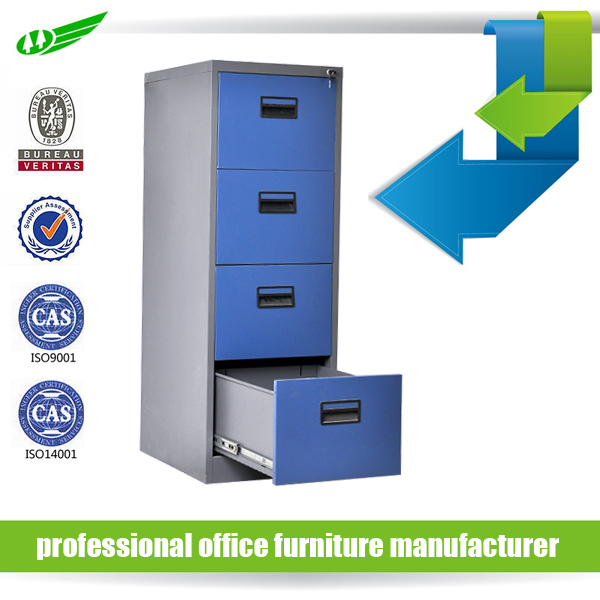 Anti tilt 4 drawer steel filing cabinet office furniture