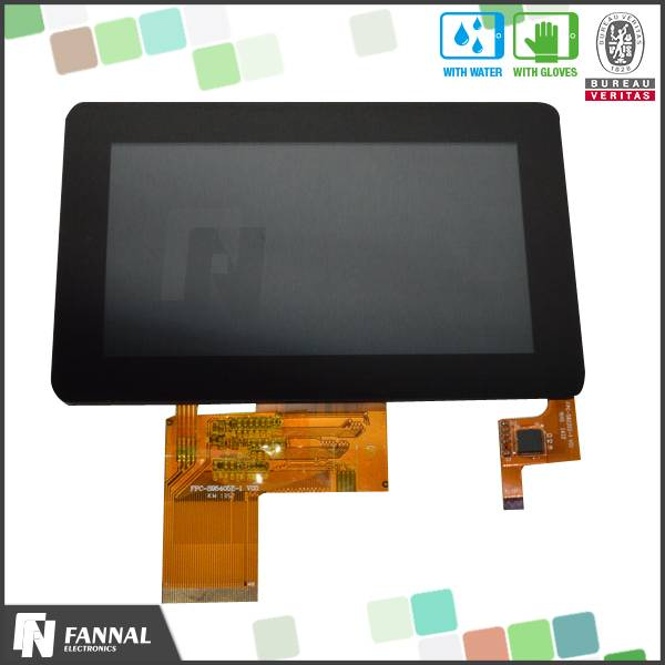 customized multi touch screen G+G 4.3 inch TFT capacitive touch screen module