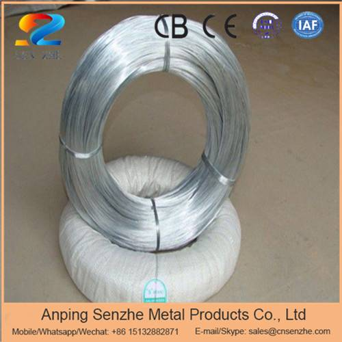 cold galvanized or hot dipped galvanized steel iron wire Q235 grade