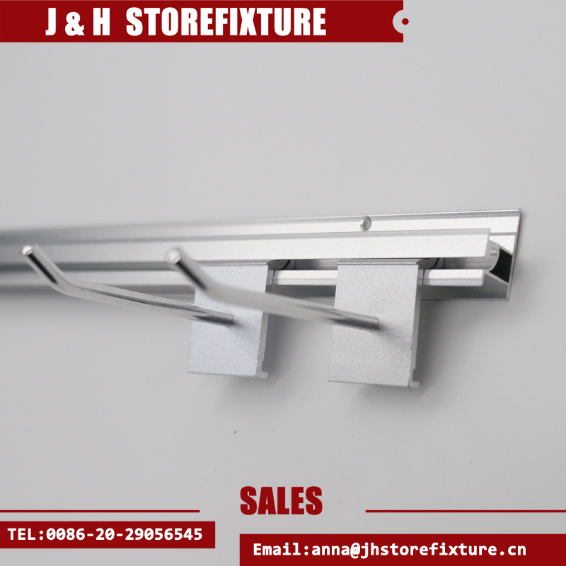 Storefixture metal slatwall upright display for shop for clothes shop