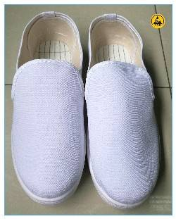 Good qualiy white color canvas upper PVC outsole ESD shoes