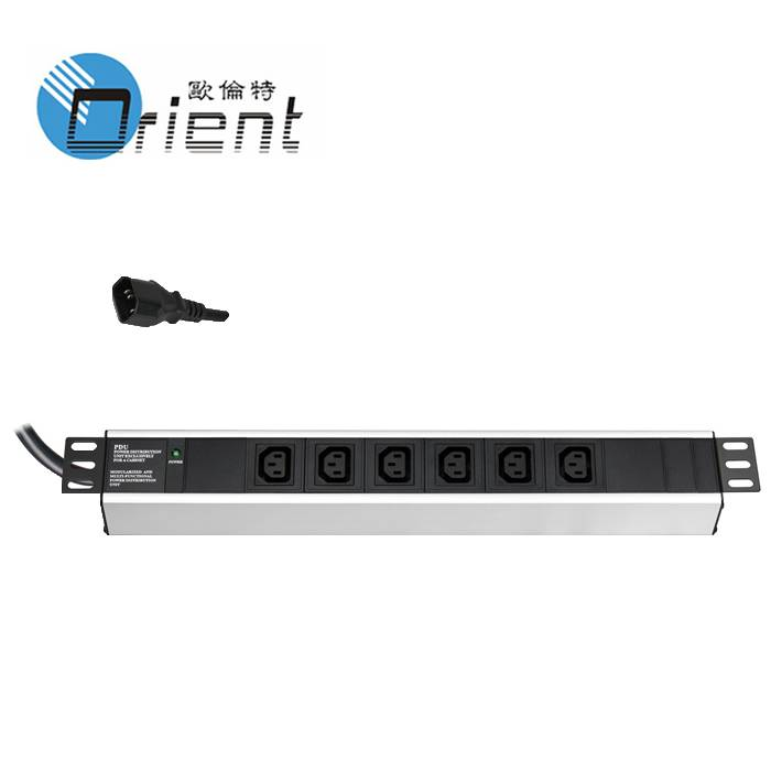C13 PDU 6 Outlet with power indicator light