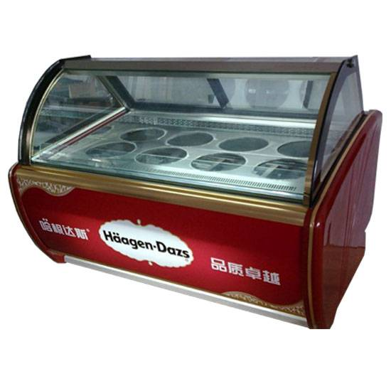 factory direct sell 1.5m 8 pots Haagen-Dazs ice cream display cabinets/1.5 meter Haagen-Dazs showcas
