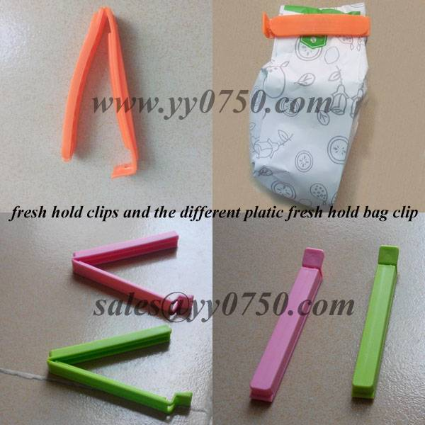 Different style plastic fresh hold bag clip