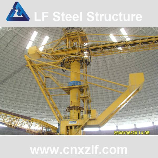 steel space frame for coal storage
