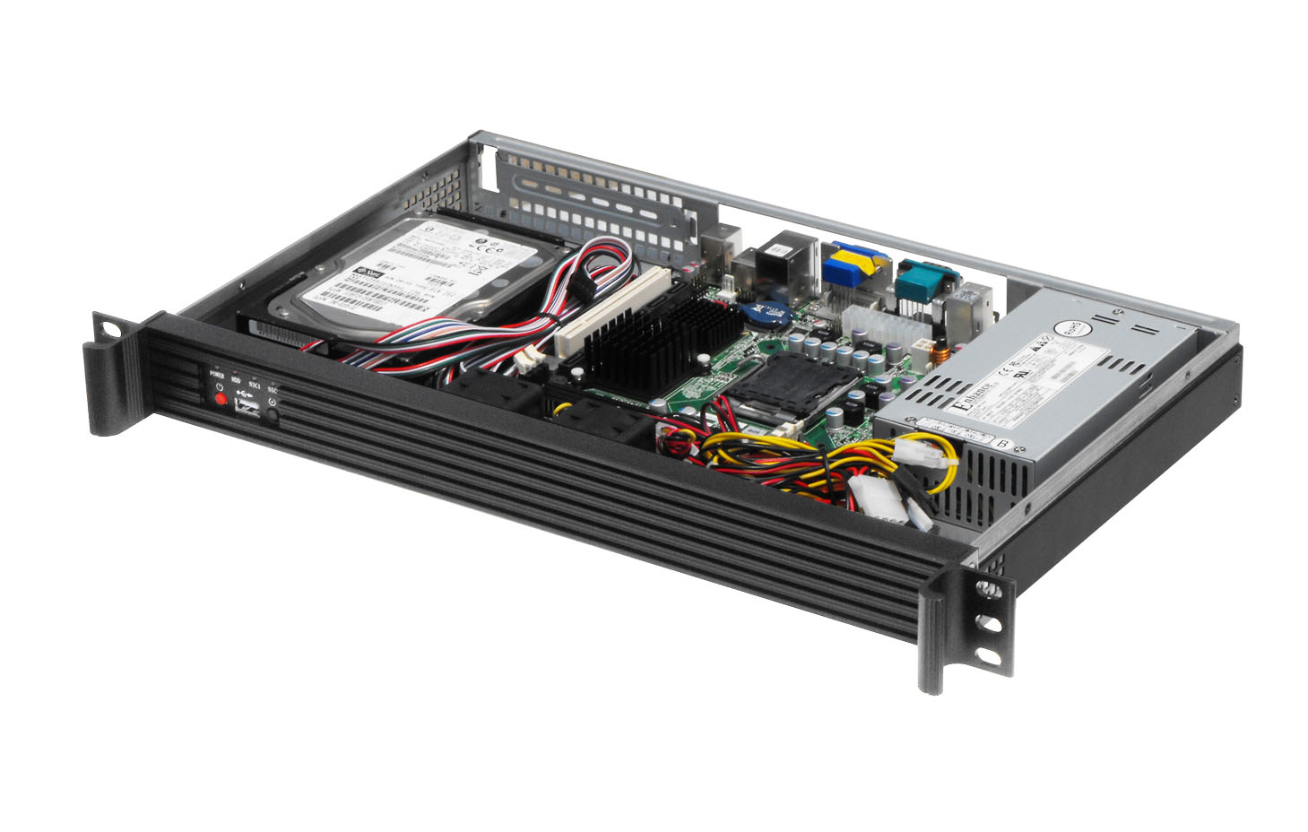 1U250L Server case Support Mini-ITX Mainboard