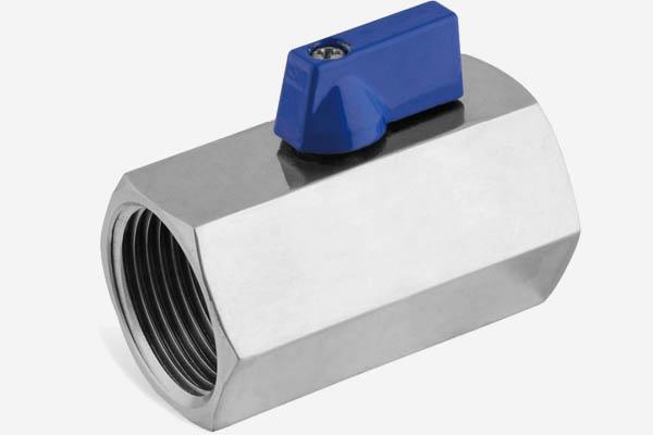 stainless steel 1-pc mini ball valve F/F