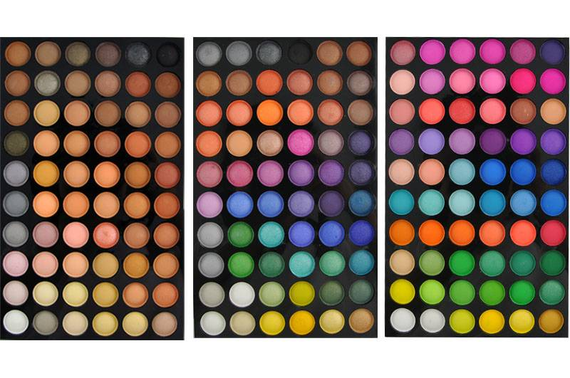 Makeup 180 Metal Color Removable Eye Shadow in Palette