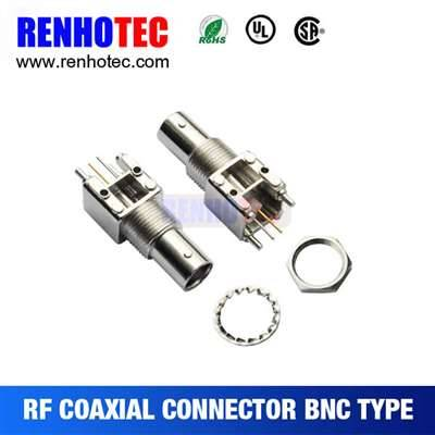 Straight BNC Jack Connector For PCB Mount
