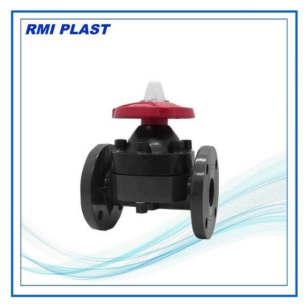 PVC, CPVC, PVDF, PP plastic diaphragm valve model PV111