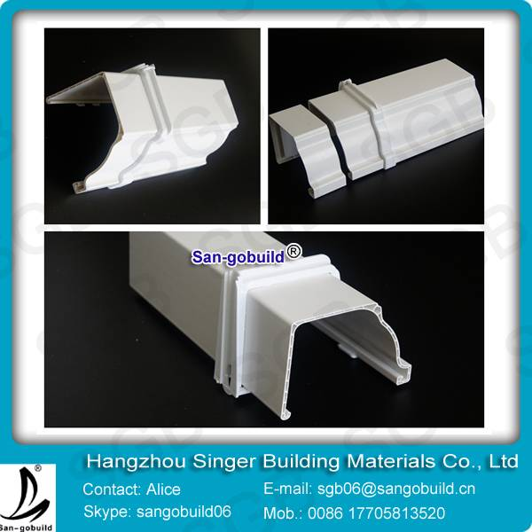 PVC plastic rain colored gutters