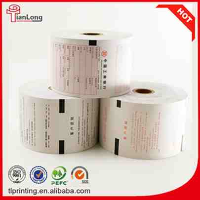 paper core or plastic core thermal ATM paper