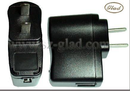 5v 800mA usb travel charger with usa plug