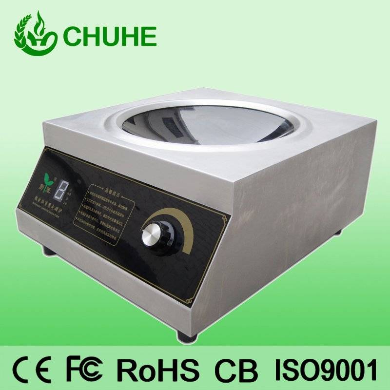 Counter top induction wok cooker