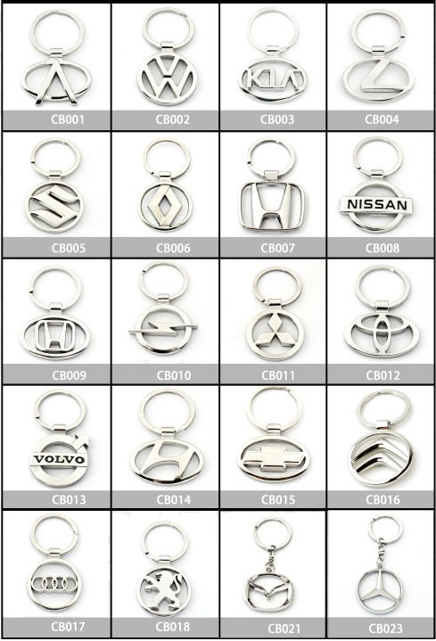 Car Gifts Zinc Alloy Metal car brand Logo Keychain